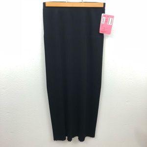 Black frilly misook maxi skirt nwt